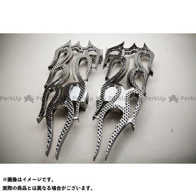 【無料雑誌付き】Art Of Aluminum Kenji Murakami フロアボード・ステップボード Floor Board -Flame- カラー:黒アルマイト ケンジムラカミ