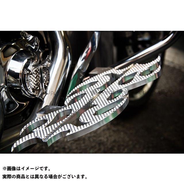 【無料雑誌付き】Art Of Aluminum Kenji Murakami フロアボード・ステップボード Floor Board -Flame 2- カラー:クローム ケンジムラカミ