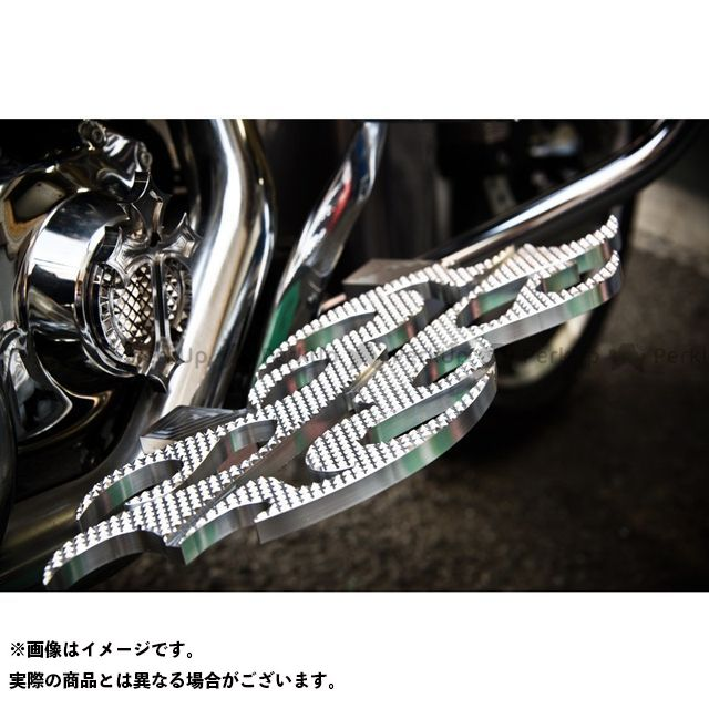 【無料雑誌付き】Art Of Aluminum Kenji Murakami フロアボード・ステップボード Floor Board -Flame 2- カラー:フレミッシュめっき ケンジムラカミ