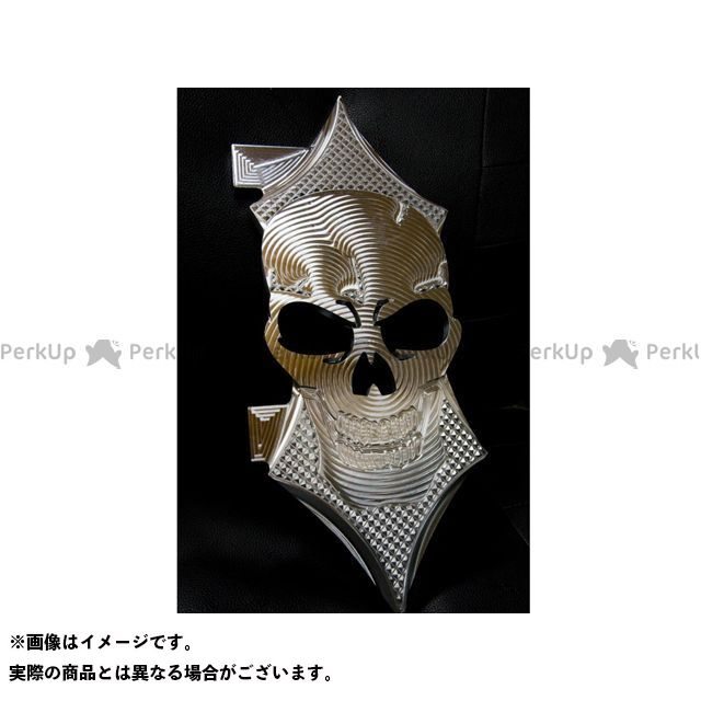 【無料雑誌付き】Art Of Aluminum Kenji Murakami フロアボード・ステップボード Skull Floor Board set カラー:フレミッシュめっき ケンジムラカミ