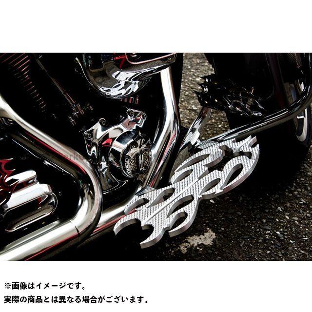 【無料雑誌付き】Art Of Aluminum Kenji Murakami フロアボード・ステップボード Floor Board -Flame 3- カラー:黒コントラスト ケンジムラカミ
