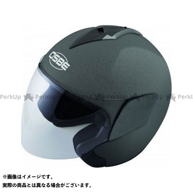 OSBE ジェットヘルメット OHB10 DSS MONO HELMET(METAL TITANIUM) サイズ:54 OSBE