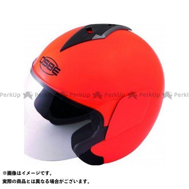 OSBE ジェットヘルメット OHB10 DSS FLUO HELMET(SHINY ORANGE FLUO) サイズ:60 OSBE