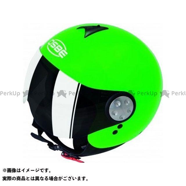 OSBE ジェットヘルメット AERO 5 FLUO HELMET(SHINY GREEN FLUO) サイズ:60 OSBE