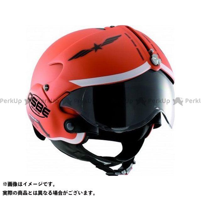 OSBE ジェットヘルメット TORNADO GRAPHIC HELMET(MAT ORANGE GRAPHIC) サイズ:54 OSBE
