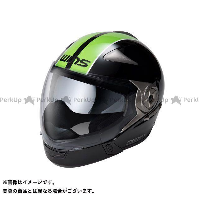 ウインズ システムヘルメット(フリップアップ) MODIFY ADVANCE GT STRIPE カラー:ブラック/グリーン サイズ:M/57-58cm WINS