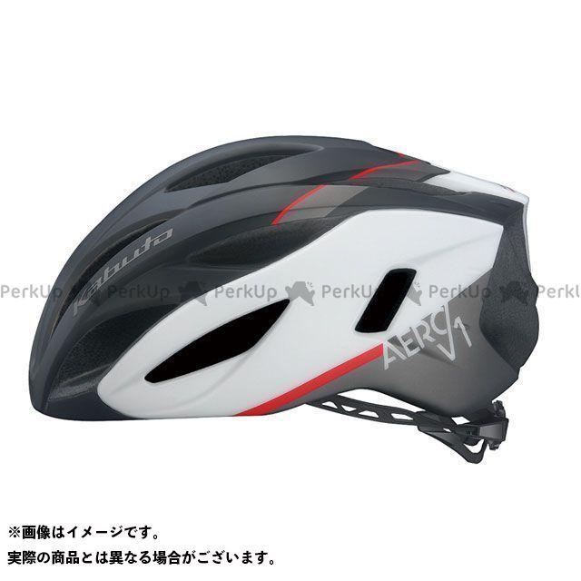 OGK KABUTO ヘルメット AERO-V1(G-1マットブラックホワイト) サイズ:S/M(55-58cm) OGK KABUTO(自転車)