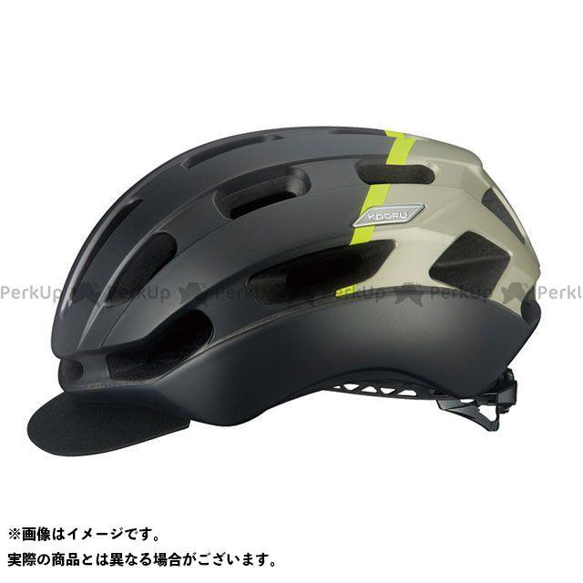 OGK KABUTO ヘルメット KOOFU BC-GLOSBE-2(マットブラックイエロー) サイズ:S/M(55-58cm) OGK KABUTO(自転車)