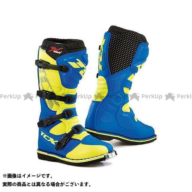 TCX ティーシーエックス FLUO X-BLAST Boots ROYAL レーシングブーツ BLUE/YELLOW サイズ:46
