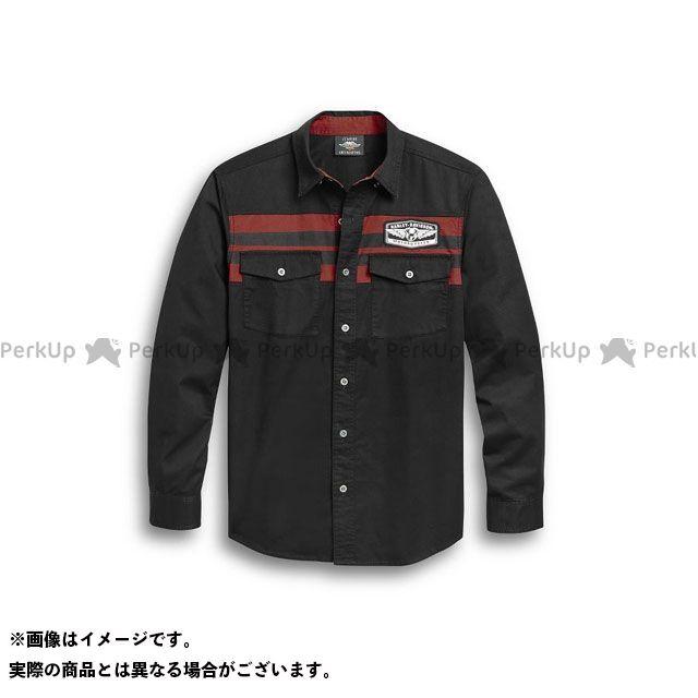 HARLEY-DAVIDSON カジュアルウェア Men's Chest Stripe Shirt(ブラック) サイズ:M ハーレーダビッドソン