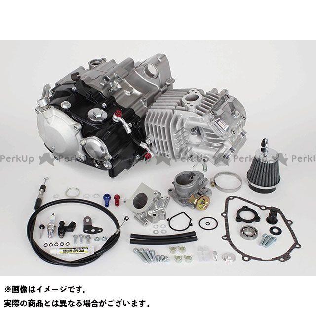 【エントリーで最大P21倍】TAKEGAWA モンキー125 エンジン本体 スーパーヘッド4V+Rコンプリートエンジン181cc(湿式クラッチ仕様) SP武川