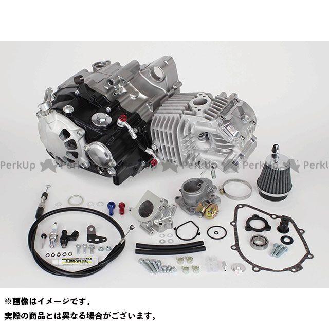 【エントリーで最大P21倍】TAKEGAWA モンキー125 エンジン本体 スーパーヘッド4V+Rコンプリートエンジン181cc(乾式クラッチ仕様) SP武川