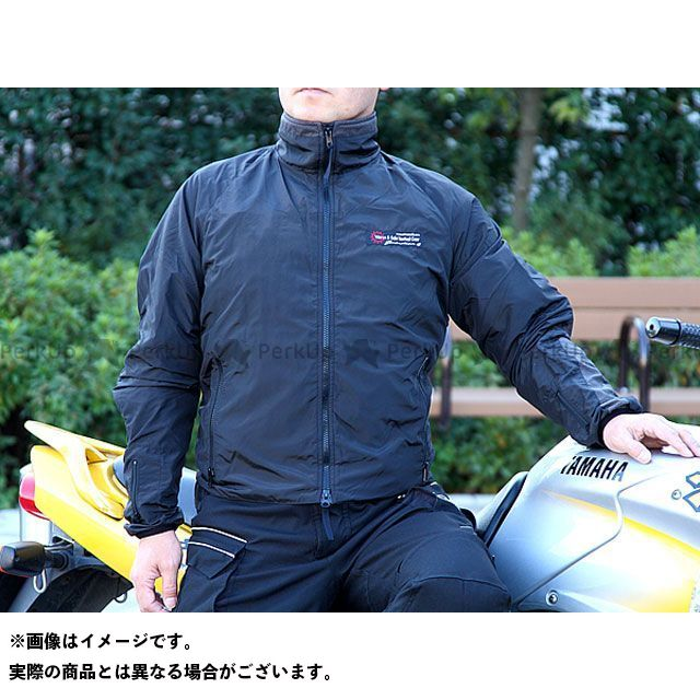 ウォームアンドセーフ 電熱ウェア・防寒用品 WS-JLM4 男性用ヒーテッド・ジャケット(ブラック) XL Warm&Safe