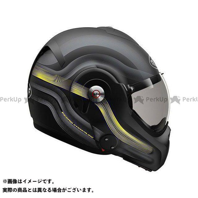ルーフ システムヘルメット(フリップアップ) Desmo Streamline Matt Black-Steel-Yellow Fluo サイズ:XL ROOF