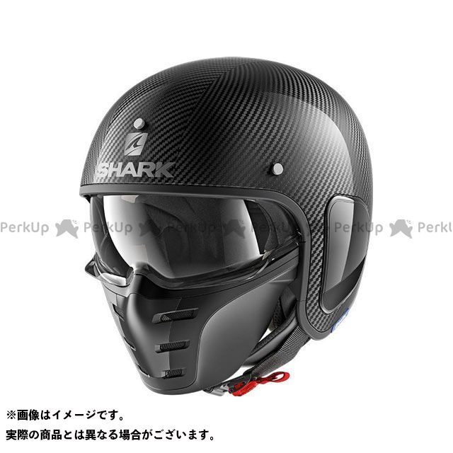 SHARK HELMETS ジェットヘルメット S-Drak Carbon Skin Helmet Carbon Silver Black サイズ:XS シャークヘルメット