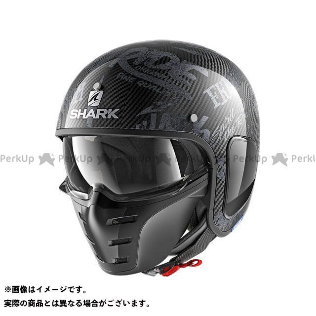 SHARK HELMETS ジェットヘルメット S-Drak Carbon Freestyle Cup Helmet Carbon Anthracite サイズ:M シャークヘルメット