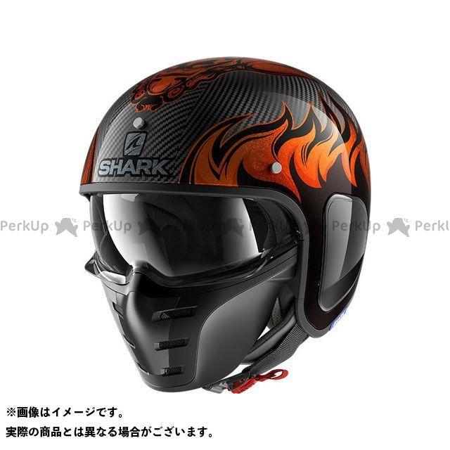 SHARK HELMETS ジェットヘルメット S-Drak Carbon Dagon Helmet Carbon Orange サイズ:L シャークヘルメット