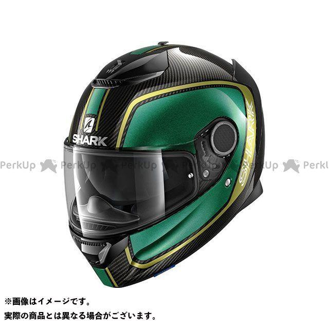 SHARK HELMETS フルフェイスヘルメット Spartan Carbon Priona Helmet Carbon Green Gold サイズ:M シャークヘルメット