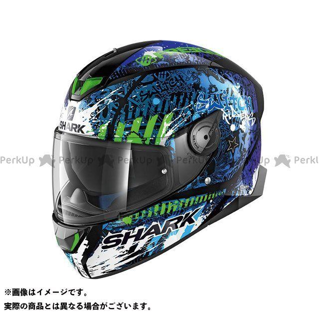 SHARK HELMETS フルフェイスヘルメット Skwal 2 Switch Riders 2 Helmet Black Blue Green サイズ:XL シャークヘルメット