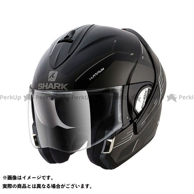 SHARK HELMETS システムヘルメット(フリップアップ) Evoline Series3 Hataum Mat Helmet Black anthrac white サイズ:M シャークヘルメット