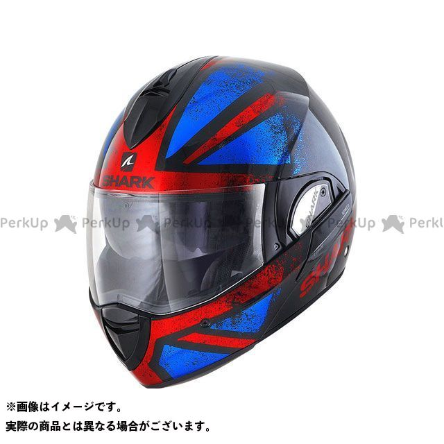 SHARK HELMETS システムヘルメット(フリップアップ) Evoline Series 3 Tixer Helmet Black red blue サイズ:XS シャークヘルメット