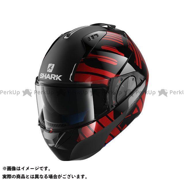 SHARK HELMETS システムヘルメット(フリップアップ) Evo-One 2 Lithion Dual Helmet Black Chrom Red サイズ:M シャークヘルメット