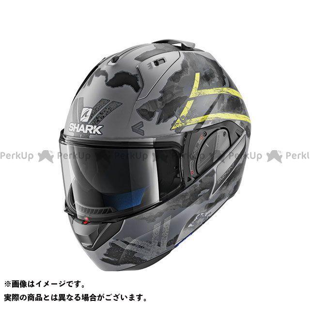 SHARK HELMETS システムヘルメット(フリップアップ) Evo-One 2 Skuld Mat Helmet Anthracite Yellow Black サイズ:S シャークヘルメット
