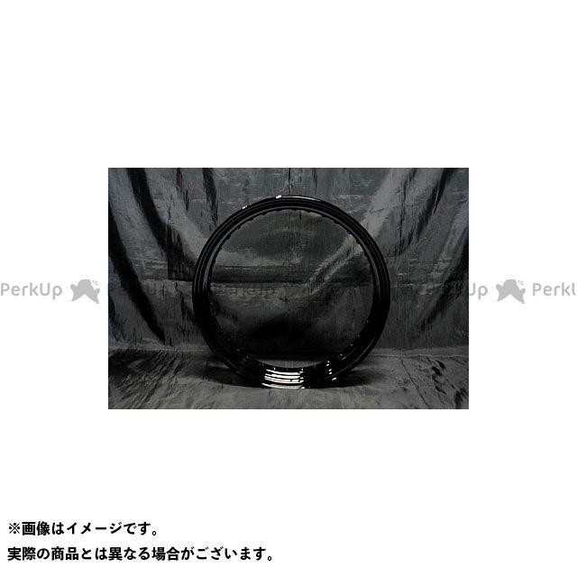 【エントリーで最大P23倍】ブヒンヤケーアンドダブリュー SR400 SR500 ホイール本体 16in フロントホイールKIT 鉄リム(ドラムハブ用) カラー:黒 部品屋K&W