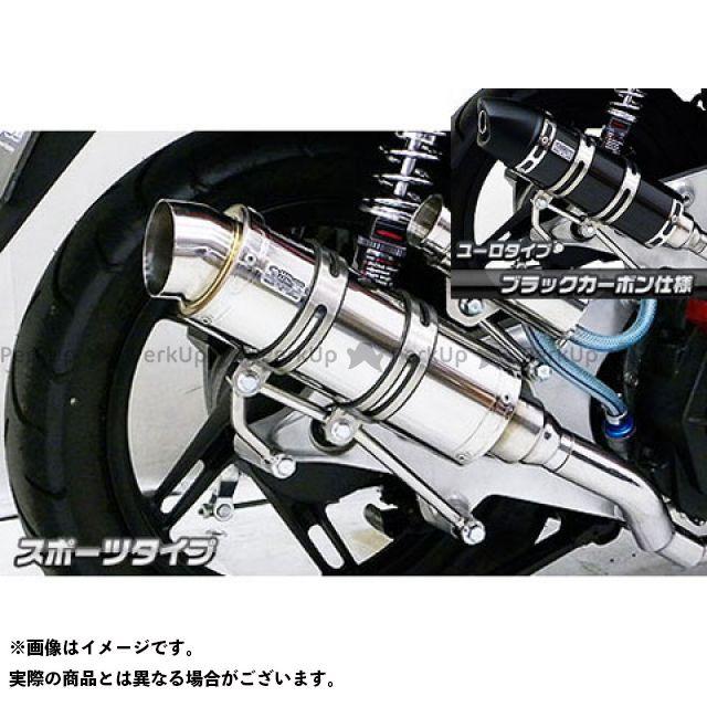 WirusWin PCX150 マフラー本体 PCX150(KF18)用 ロイヤルマフラー スポーツタイプ オプション:オプションC+E(ブラック) ウイルズウィン