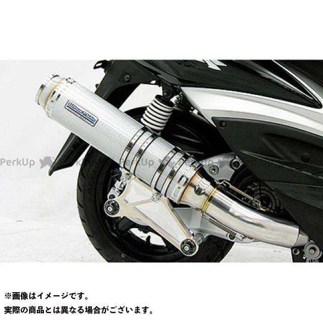 WirusWin シグナスX マフラー本体 シグナスX(3型/SE465-1MS)用 アルティメットマフラー バズーカータイプ O2センサー取付け口付 サイレンサー:シルバーカーボン仕様 ウイルズウィン
