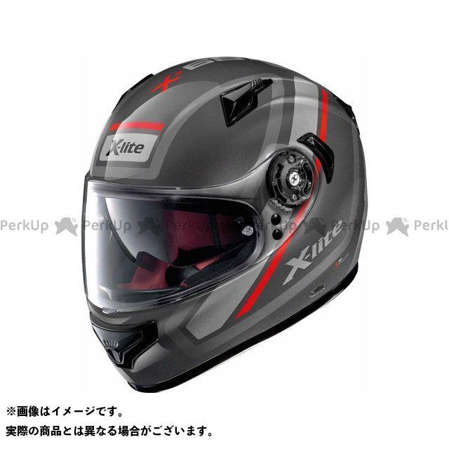 エックスライト フルフェイスヘルメット X-661 Comrade N-Com Helmet(グレー-レッド-ブラック)X61000702042 サイズ:S X-lite