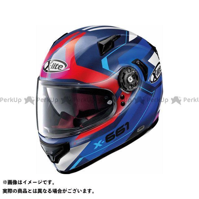 エックスライト フルフェイスヘルメット X-661 Motivator N-Com Helmet(ブルー-ホワイト-レッド)X61000811045 サイズ:2XL X-lite