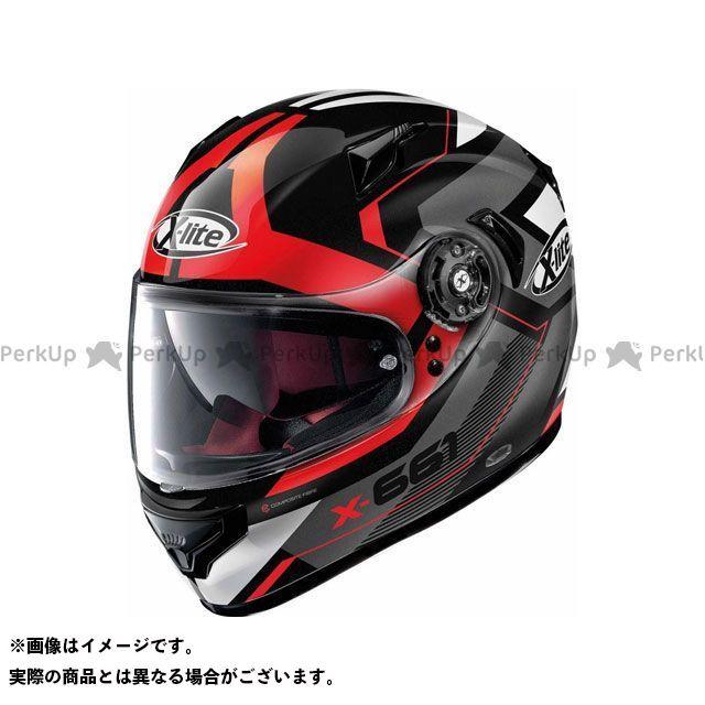 エックスライト フルフェイスヘルメット X-661 Motivator N-Com Helmet(グレー-レッド)X61000811046 サイズ:S X-lite