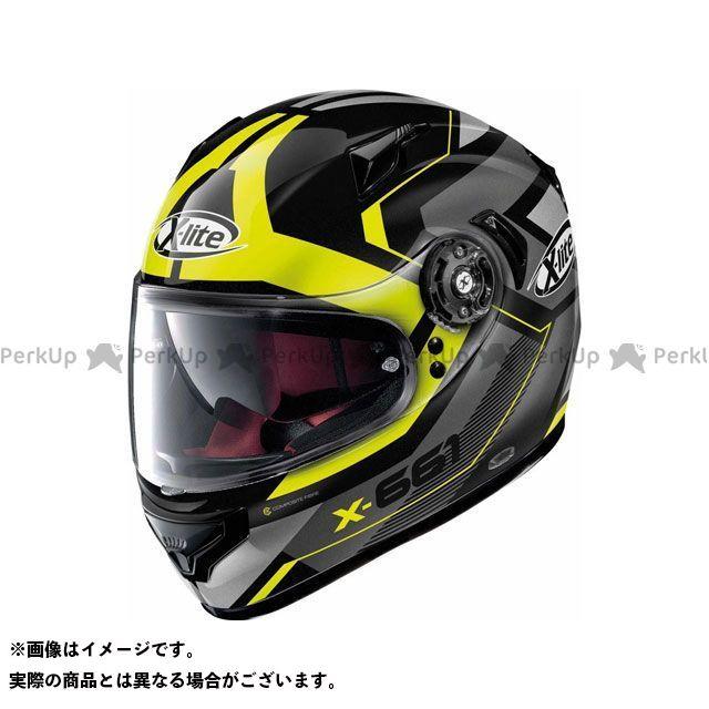エックスライト フルフェイスヘルメット X-661 Motivator N-Com Helmet(グレー-イエロー)X61000811047 サイズ:M X-lite