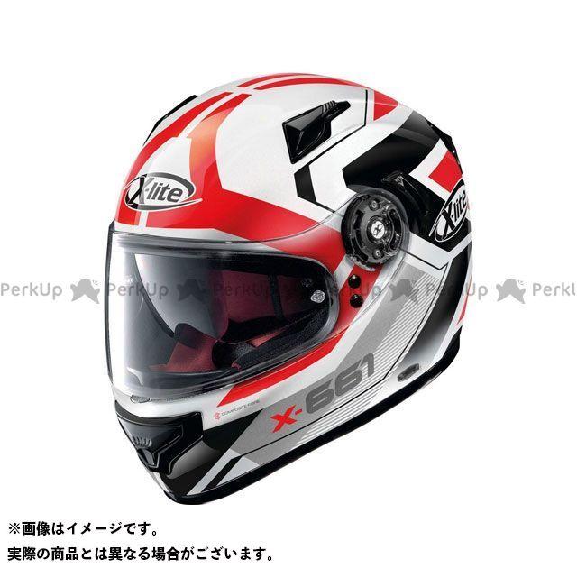 エックスライト フルフェイスヘルメット X-661 Motivator N-Com Helmet(ホワイト-ブラック-レッド)X61000811048 サイズ:L X-lite