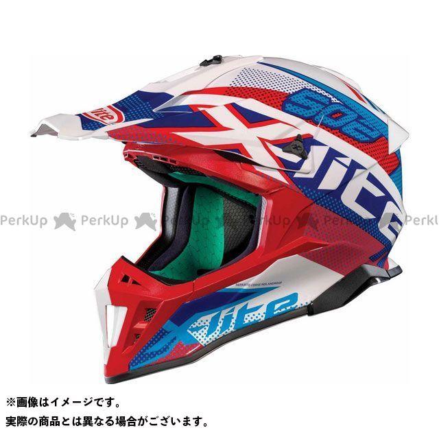 エックスライト オフロードヘルメット X-502 Resistencia Helmet(ブルー-レッド)X52000475023 サイズ:2XL X-lite