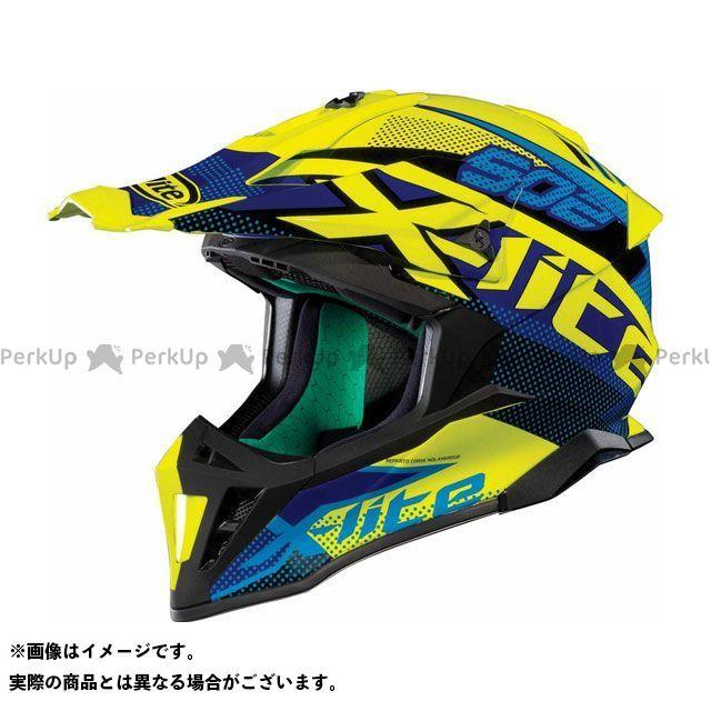 エックスライト オフロードヘルメット X-502 Resistencia Helmet(ブルー-イエロー)X52000475022 サイズ:M X-lite