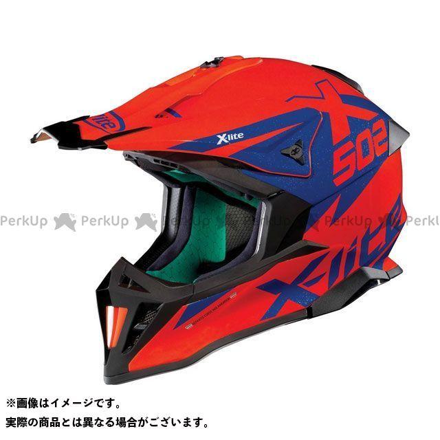 エックスライト オフロードヘルメット X-502 Matris Helmet(ブルー-レッド)X52000449017 サイズ:XL X-lite