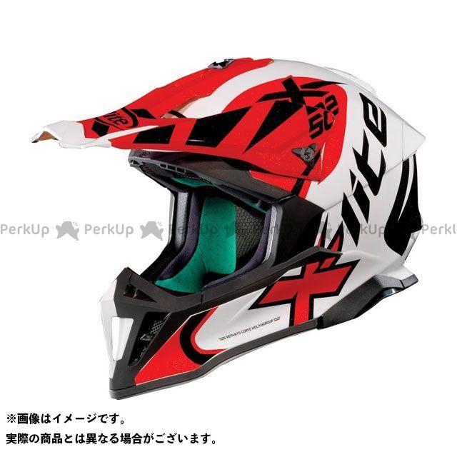エックスライト オフロードヘルメット X-502 Xtrem Helmet(ホワイト-ブラック-レッド)X52000457020 サイズ:S X-lite