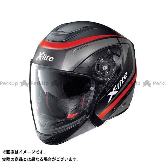 エックスライト ジェットヘルメット X-403 GT Meridian N-Com Helmet(レッド-ブラック)X43000376012 サイズ:L X-lite
