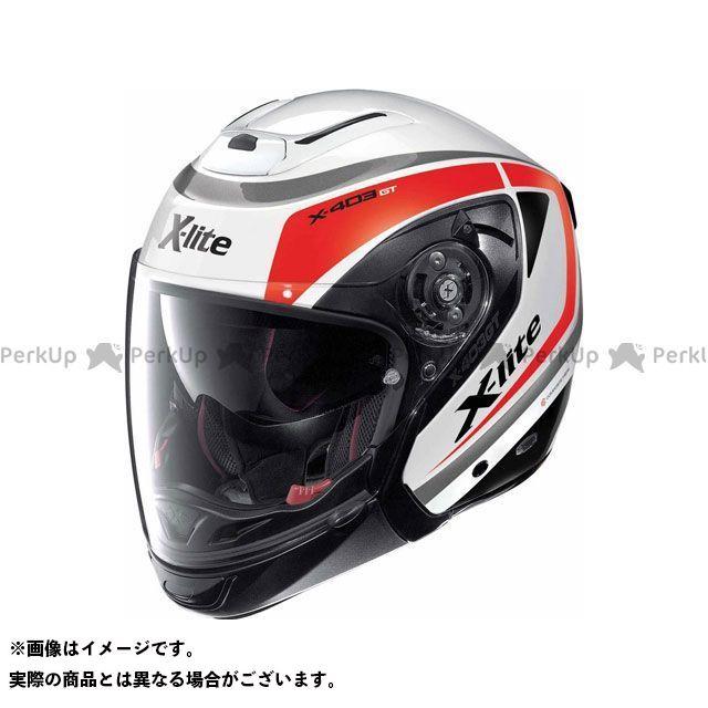 エックスライト ジェットヘルメット X-403 GT Meridian N-Com Helmet(ホワイト-ブラック-レッド)X43000376011 サイズ:M X-lite