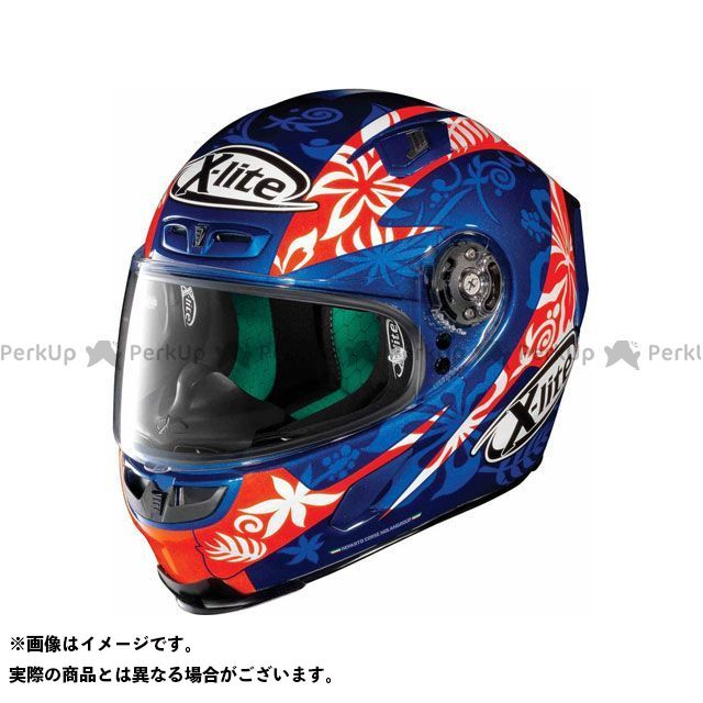 エックスライト フルフェイスヘルメット X-803 Replica Petrucci Helmet(ブルー-オレンジ)X83000606016 サイズ:XS X-lite