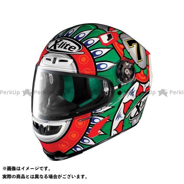 エックスライト フルフェイスヘルメット X-803 Replica Davies Italy Helmet(ホワイト-グリーン)X83000606020 サイズ:S X-lite