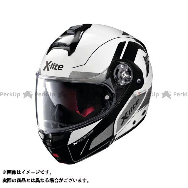エックスライト システムヘルメット(フリップアップ) X-1004 Charismatic N-Com Helmet(ブラック-ホワイト)X1G000797024 サイズ:3XL X-lite