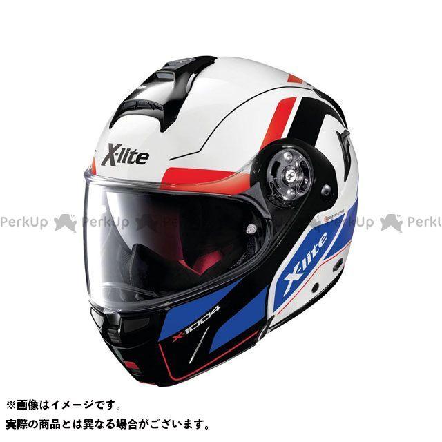エックスライト システムヘルメット(フリップアップ) X-1004 Charismatic N-Com Helmet(ブルー-ホワイト-レッド)X1G000797025 サイズ:M X-lite