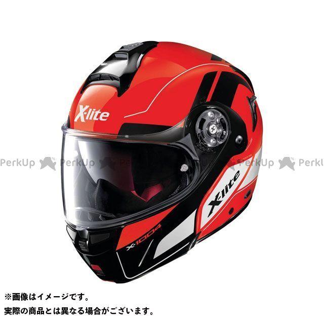 エックスライト システムヘルメット(フリップアップ) X-1004 Charismatic N-Com Helmet(ホワイト-レッド)X1G000797026 サイズ:XL X-lite