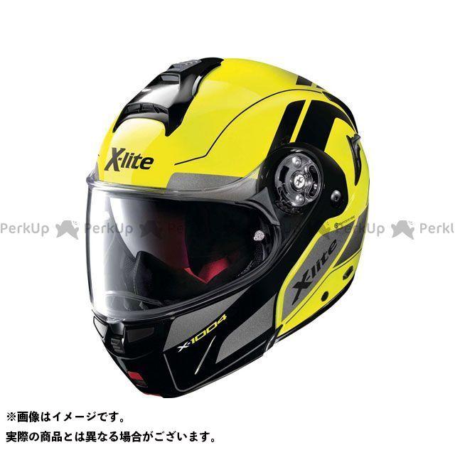 エックスライト システムヘルメット(フリップアップ) X-1004 Charismatic N-Com Helmet(イエロー-ブラック)X1G000797022 サイズ:S X-lite