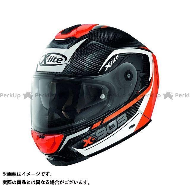 エックスライト フルフェイスヘルメット X-903 Ultra Carbon Cavalcade N-Com Helmet(ホワイト-ブラック-レッド)X9U000367010 サイズ:S X-lite