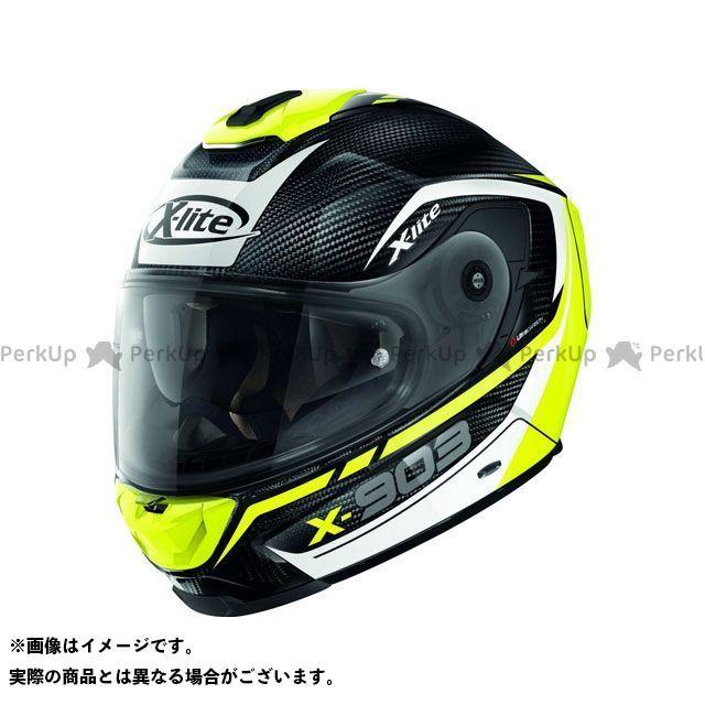 エックスライト フルフェイスヘルメット X-903 Ultra Carbon Cavalcade N-Com Helmet(ホワイト-イエロー-ブラック)X9U000367012 サイズ:M X-lite