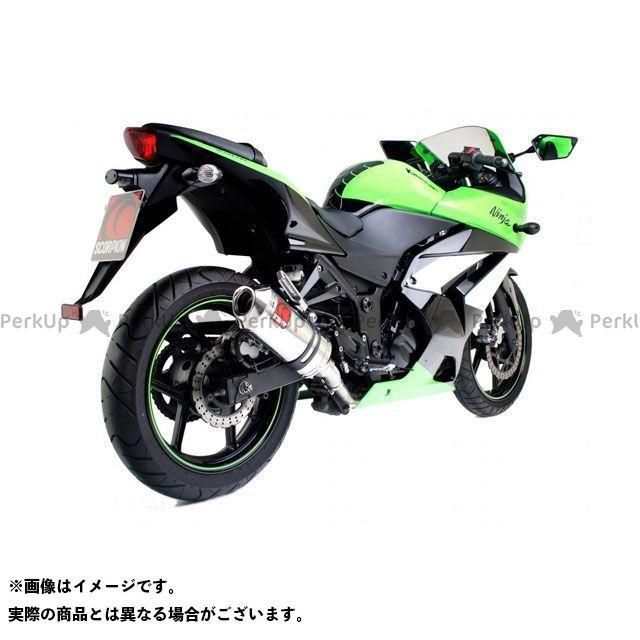 【エントリーで最大P21倍】SCORPION ニンジャ250R マフラー本体 Factory オーバルスリップオン ステンレススリーブ Homologated Kawasaki Ninja 250R 2008-2012 | EKA84SEO SCORP…